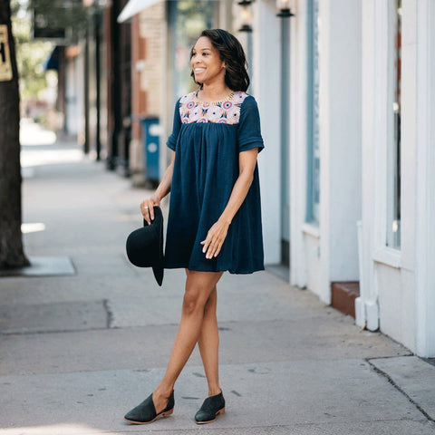 Mini Obsessions Swing Dress - Navy