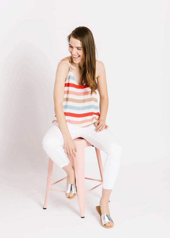 Beach Ball Stripe Top