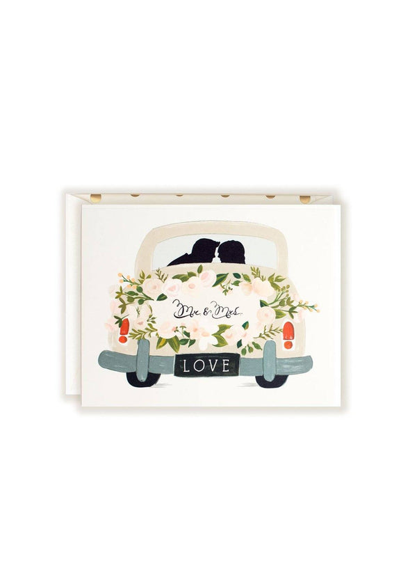 Mr & Mrs Vintage Getaway Card