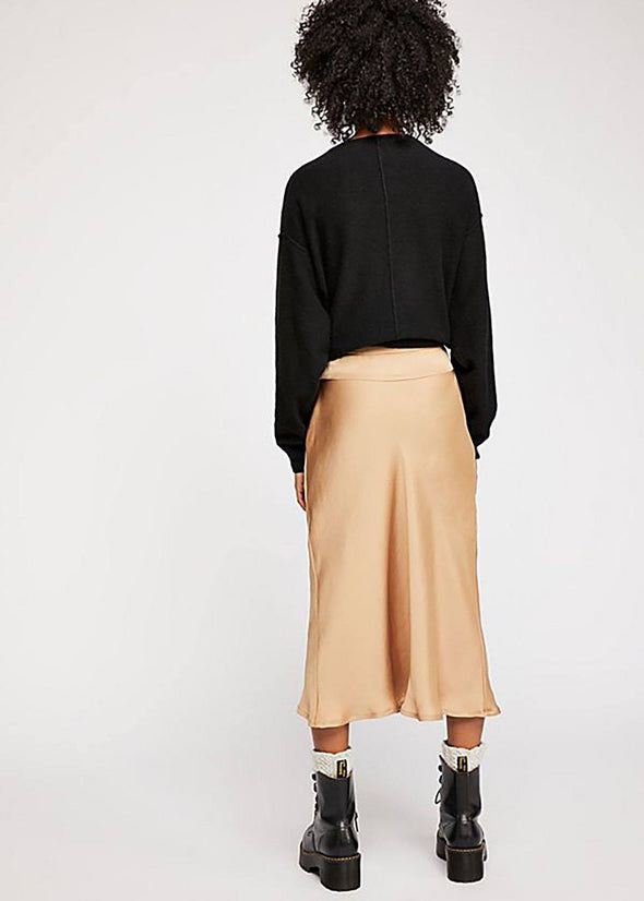 Normani Bias Skirt - Gold
