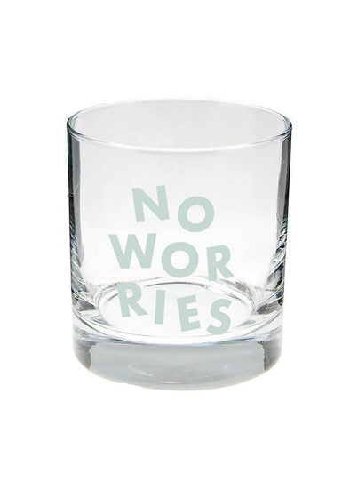 No Worries Old Fashion Glass
