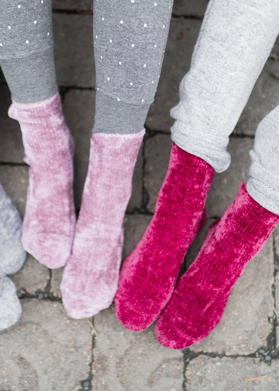 PJ Time Chenille Socks - Multi Colors