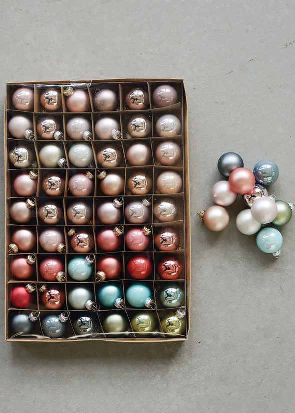 Pastel Mini Ornament Box - Set of 54