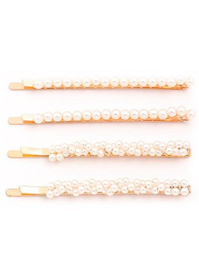 Pearly Whites Bobby Pins - Set of Four