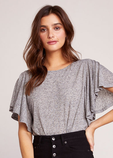 Perfect Day Knit Flutter Sleeve Top