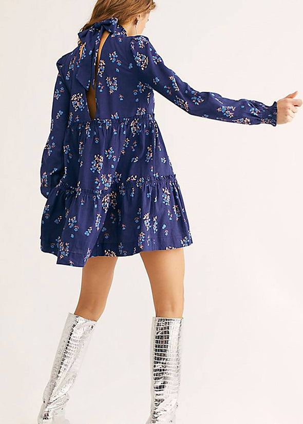 Petit Fours Mini Dress - Indigo Combo