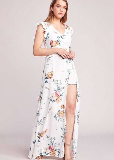 Pinkies Up Maxi Dress with Shorts
