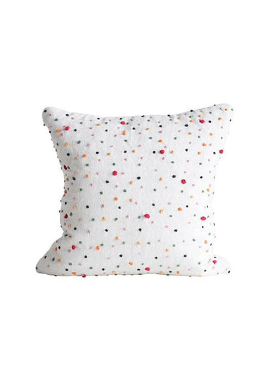 Polka Dot French Knot Pillow