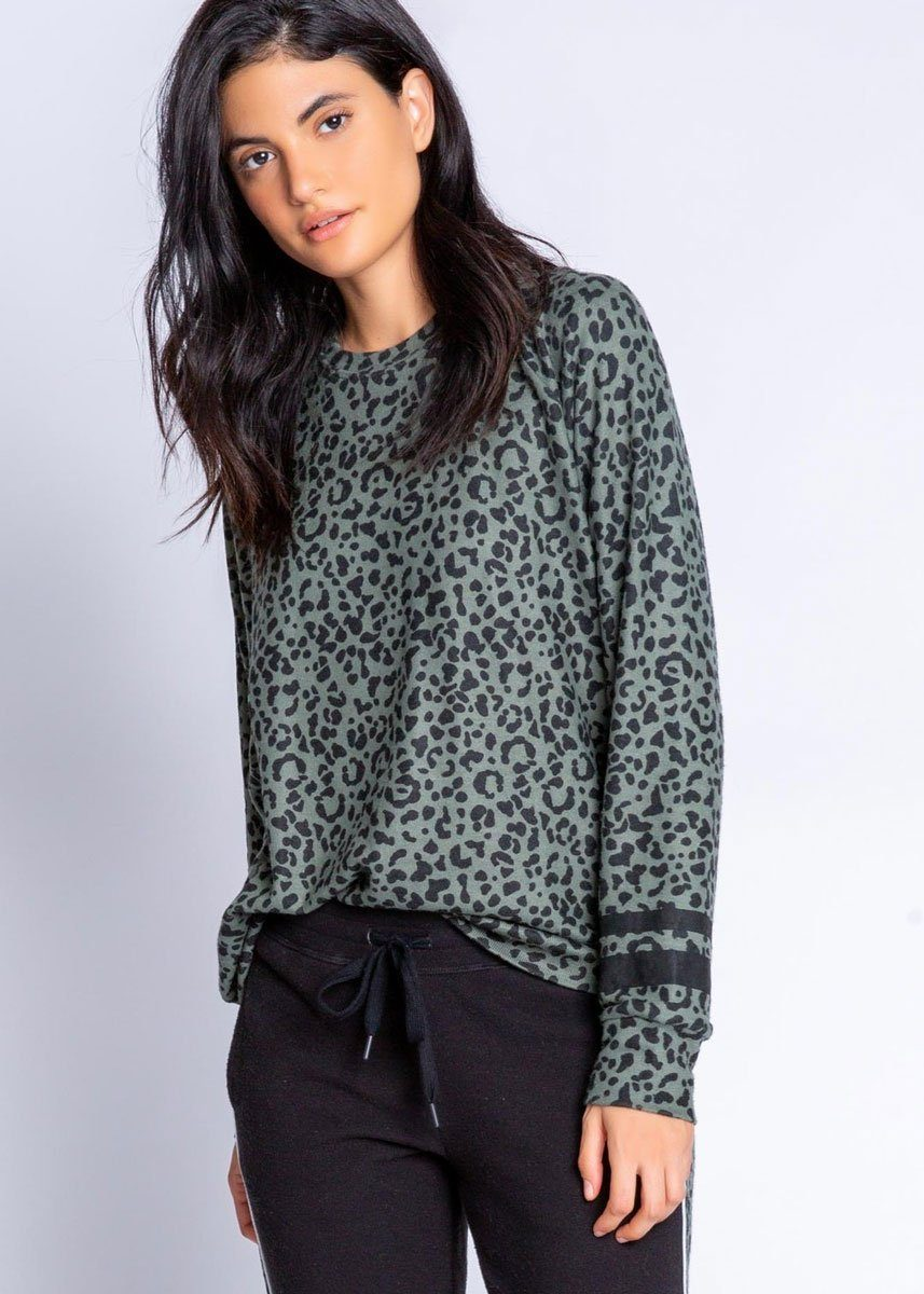 Running Wild Long Sleeve Top - Olive