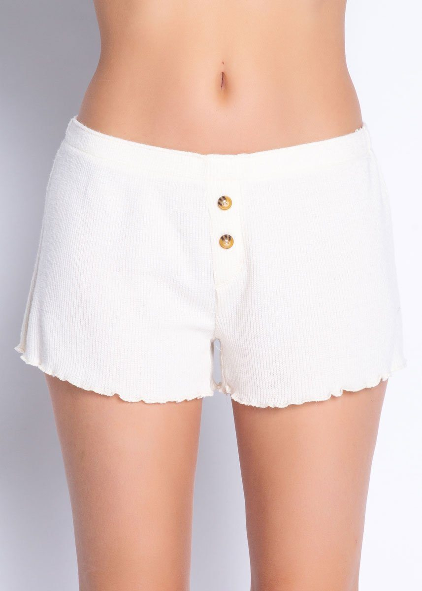 Textured Basic Short - Stone