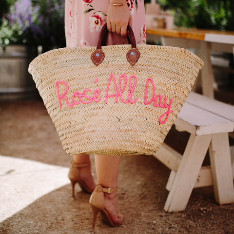 Rose All Day Beach Tote
