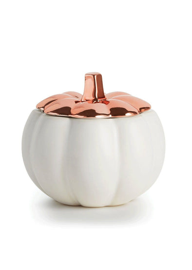 Rustic Pumpkin Novelty Ceramic Candle