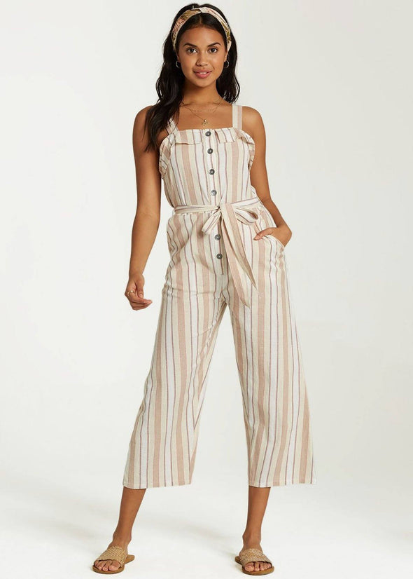 Sandy Toes Jumpsuit - Antique White