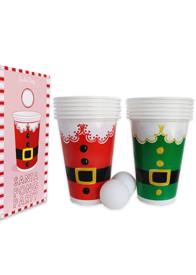 Santa Party Pong Set