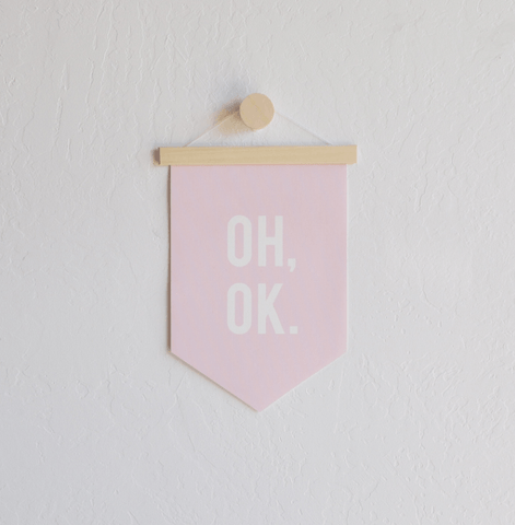 Oh, Ok Hanging Canvas Banner