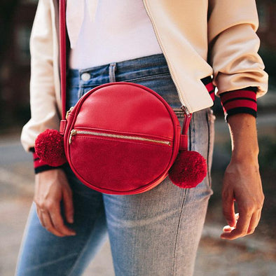 Sidekick Crossbody Circle Bag - Red