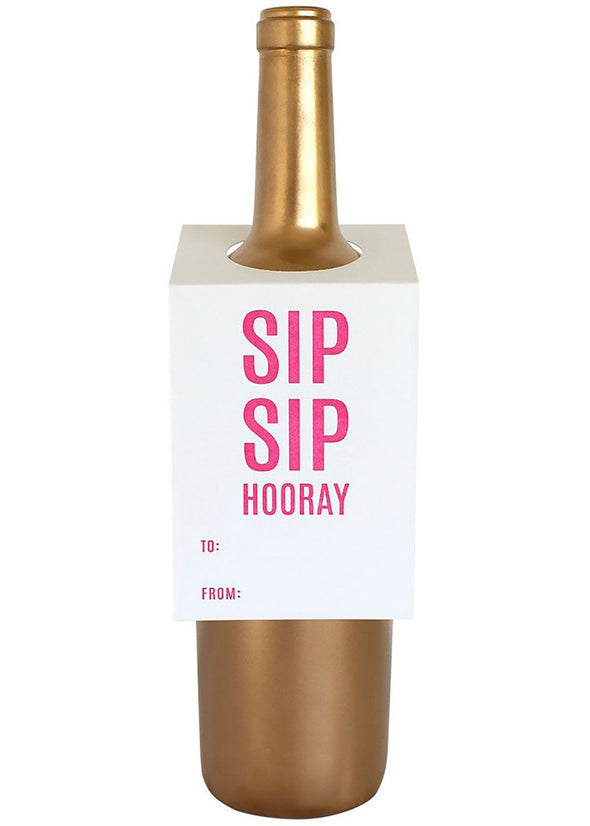 Sip Sip Hooray Wine Tag