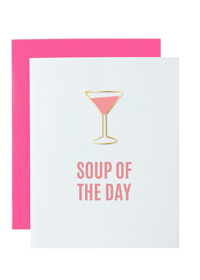 Soup of The Day Paper Clip Foil Card