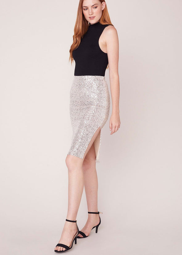 Spark This Joy Sequin Midi Skirt