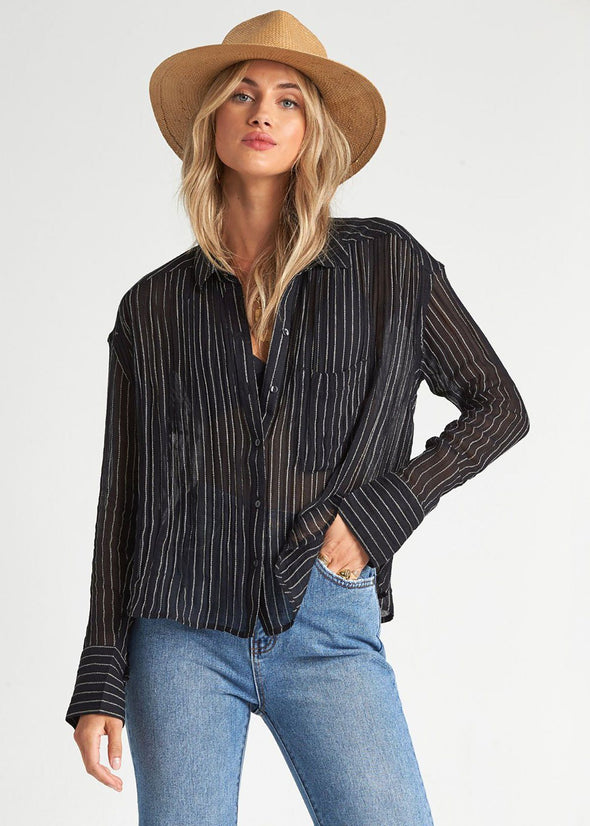 Sweet Moves Button Up Top