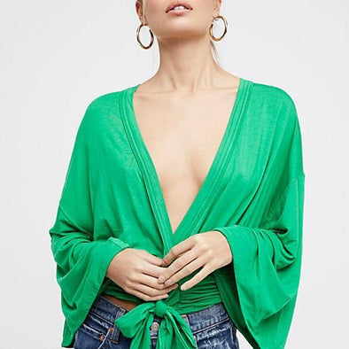 That's a Wrap Blouse - Green