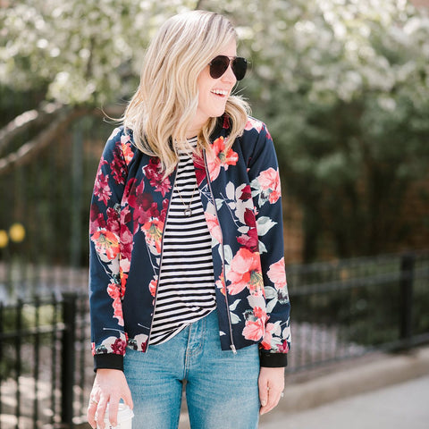 Pre-Order: Tunia Floral Bomber Jacket