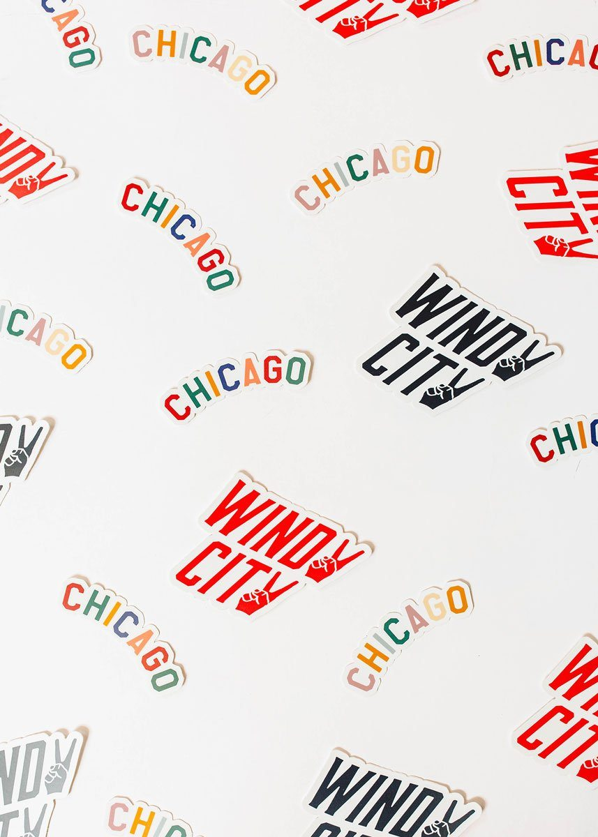 Sweet Home Chicago Sticker - Pastel