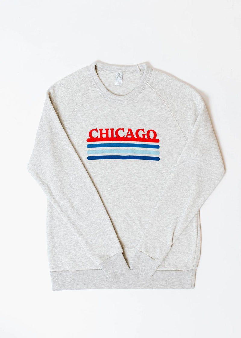 Chicago Retro Stripe Sweatshirt - Cubs Combo