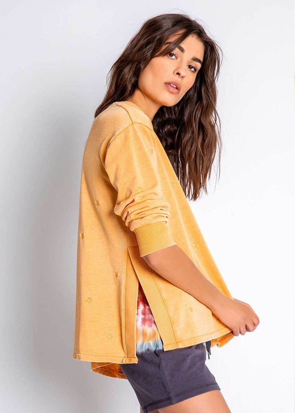 Groovy Kind Of Love Long Sleeve Top - Gold