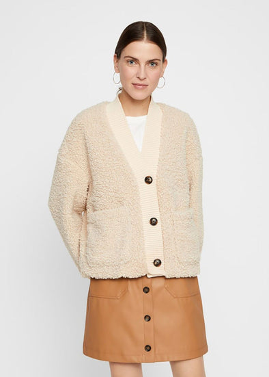 Short Teddy Cardigan