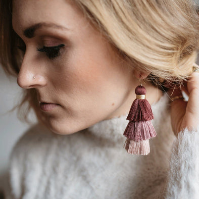 Vo Multi-Color Tassel Earrings