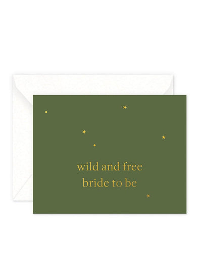 Wild and Free Bride Card