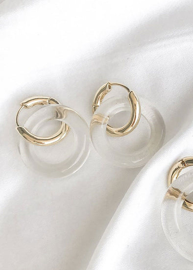 Willa Acrylic Hoops
