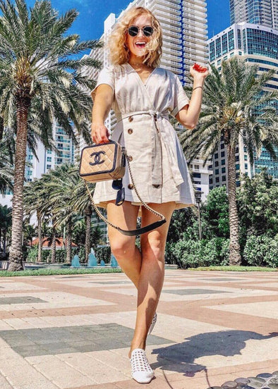 Sutton Sailor Button Mini Dress