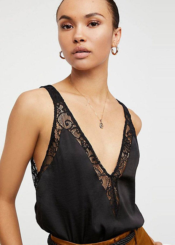 All In My Head Lace Cami - Black