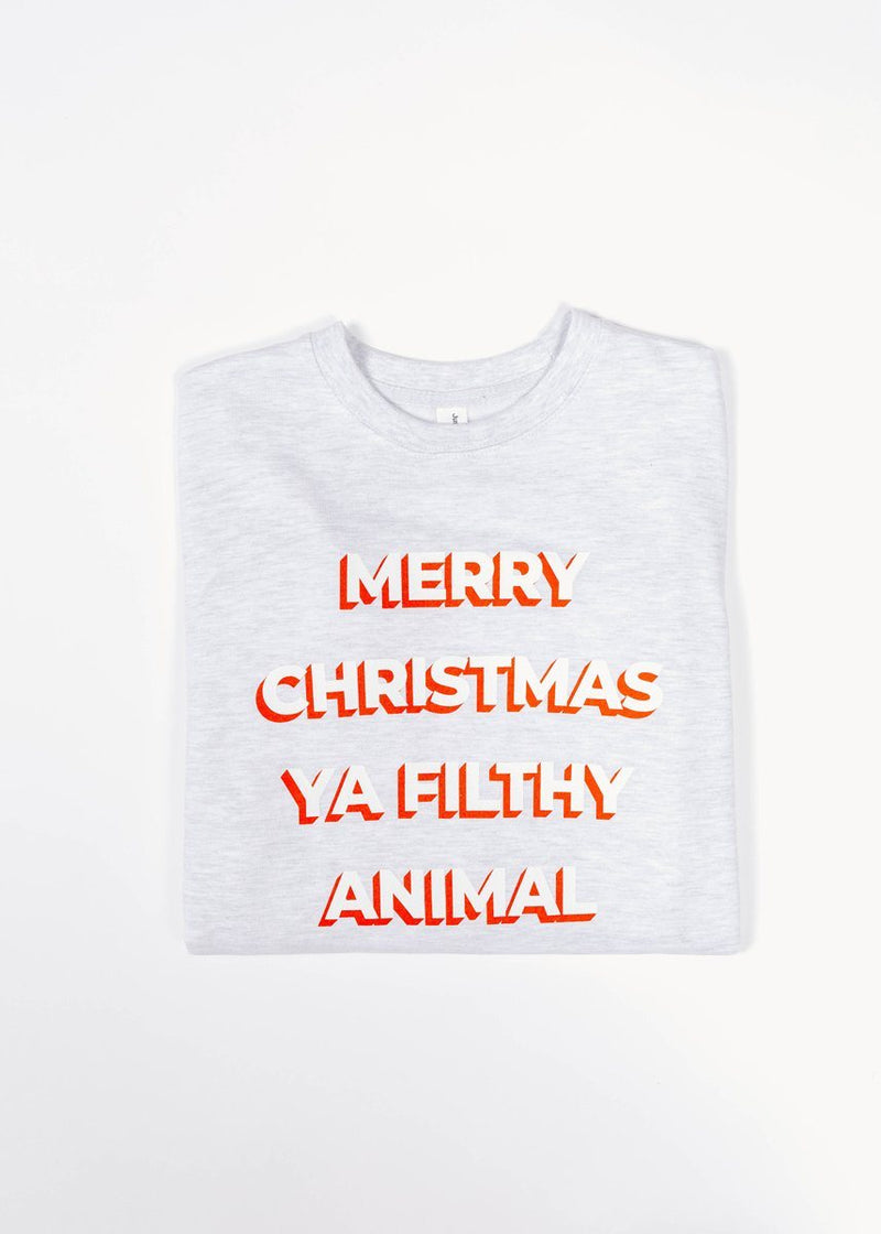 Ya Filthy Animal Sweatshirt - Grey