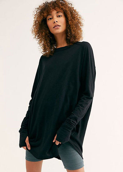 Arden Long Sleeve Tee - Black