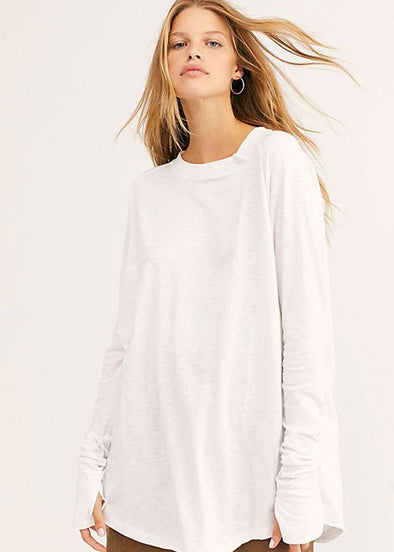 Arden Long Sleeve Tee - White