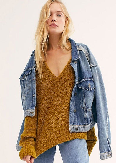 Finders Keepers V-Neck Sweater - Athens Moss