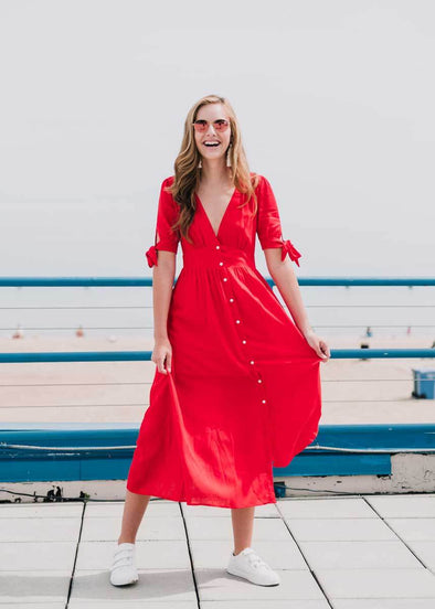 Love Like Whoa Midi Dress - Red