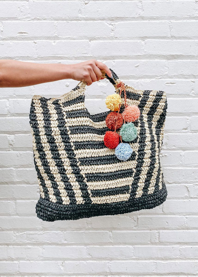 Talk to the Palm Straw Tote