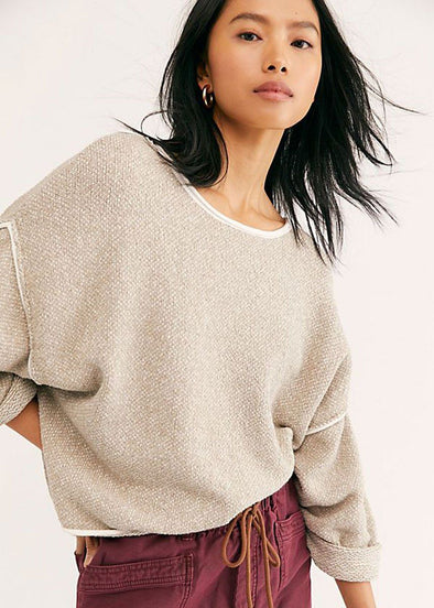 Bardot Sweater - Sand Dollar