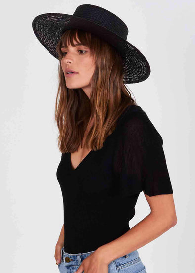 Beach Bolero Hat - Black