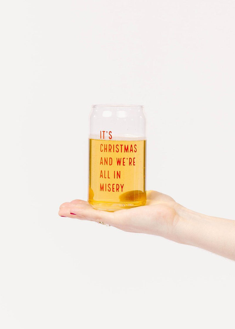 All In Misery Beer Glass - 16 oz