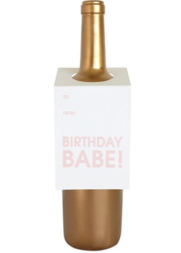 Birthday Babe Wine Tag