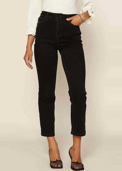 Denim Ankle Pant - Black Acid Wash
