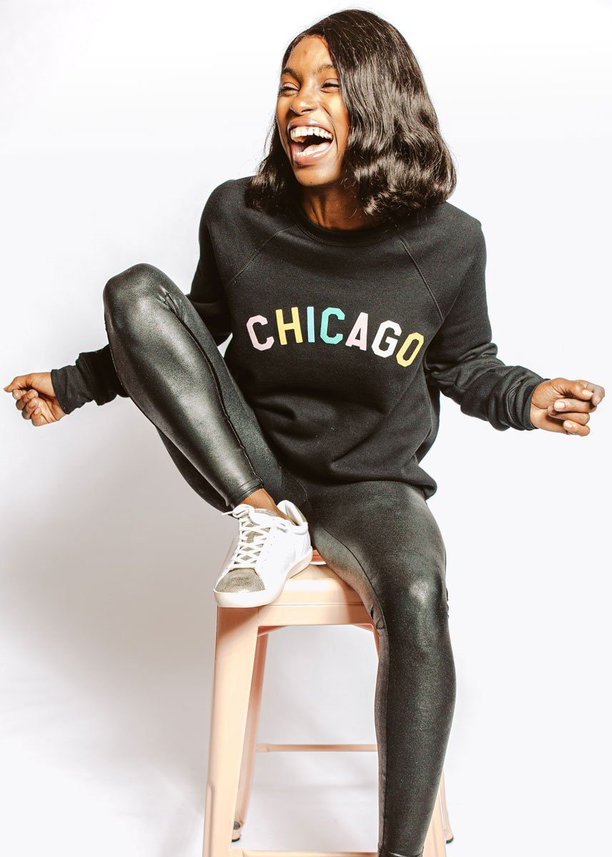 Sweet Home Chicago Sweatshirt - Black