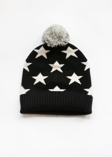 Mad Hatter Star Beanie - Black