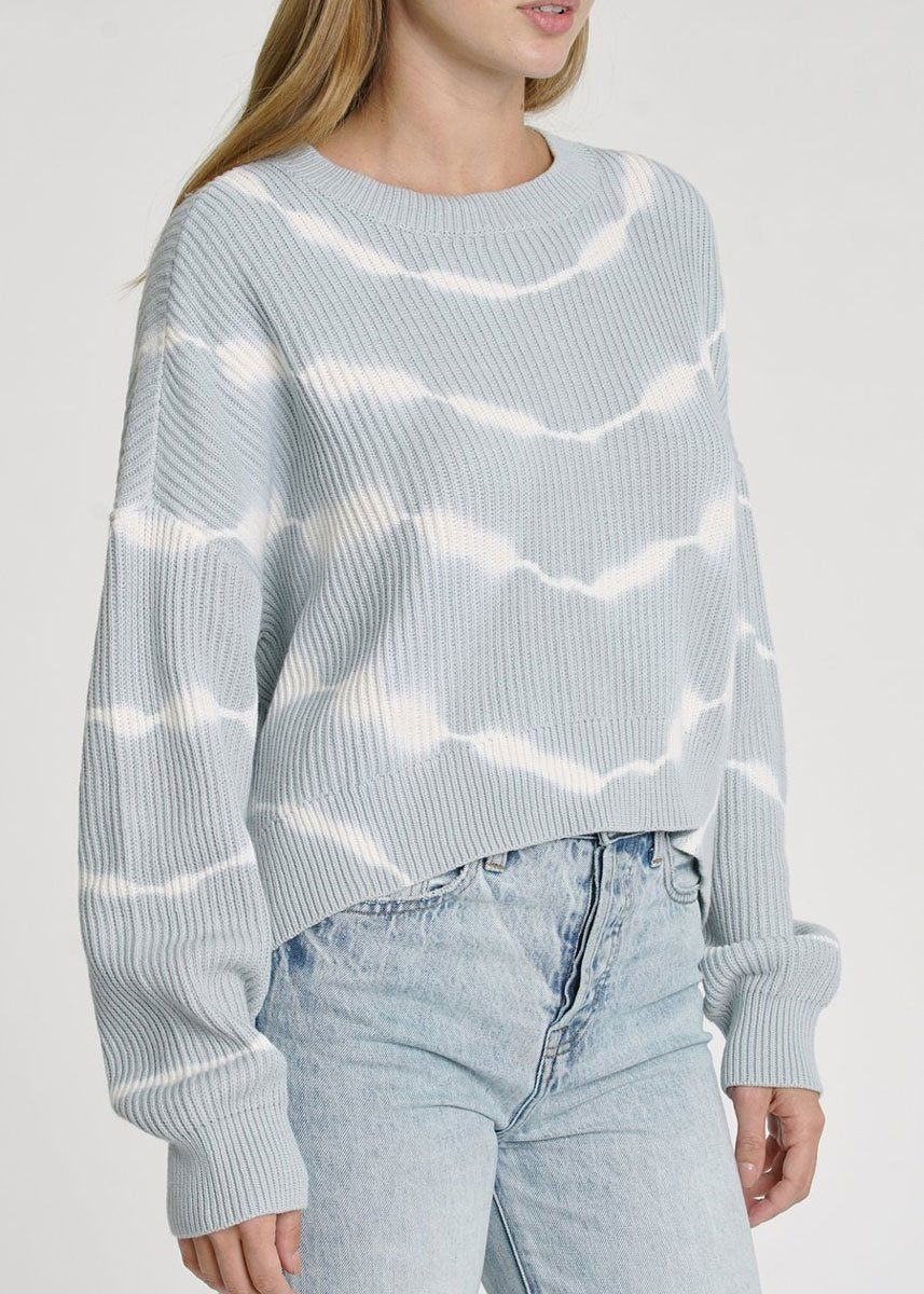 Eva Cropped Sweater - Blue Crush