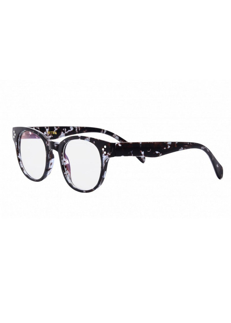 Petra Blue Light Glasses - Grey Tortoise